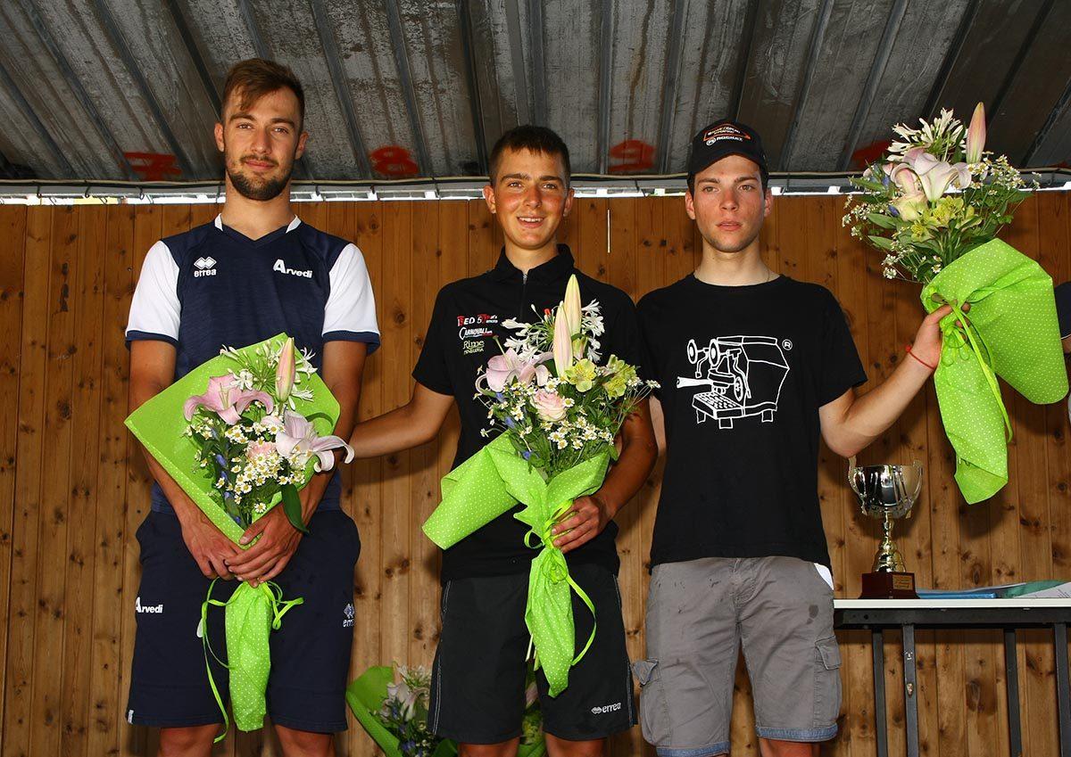 Il podio della Medaglia d'Oro Nino Ronco ad Ornago (foto Berry)