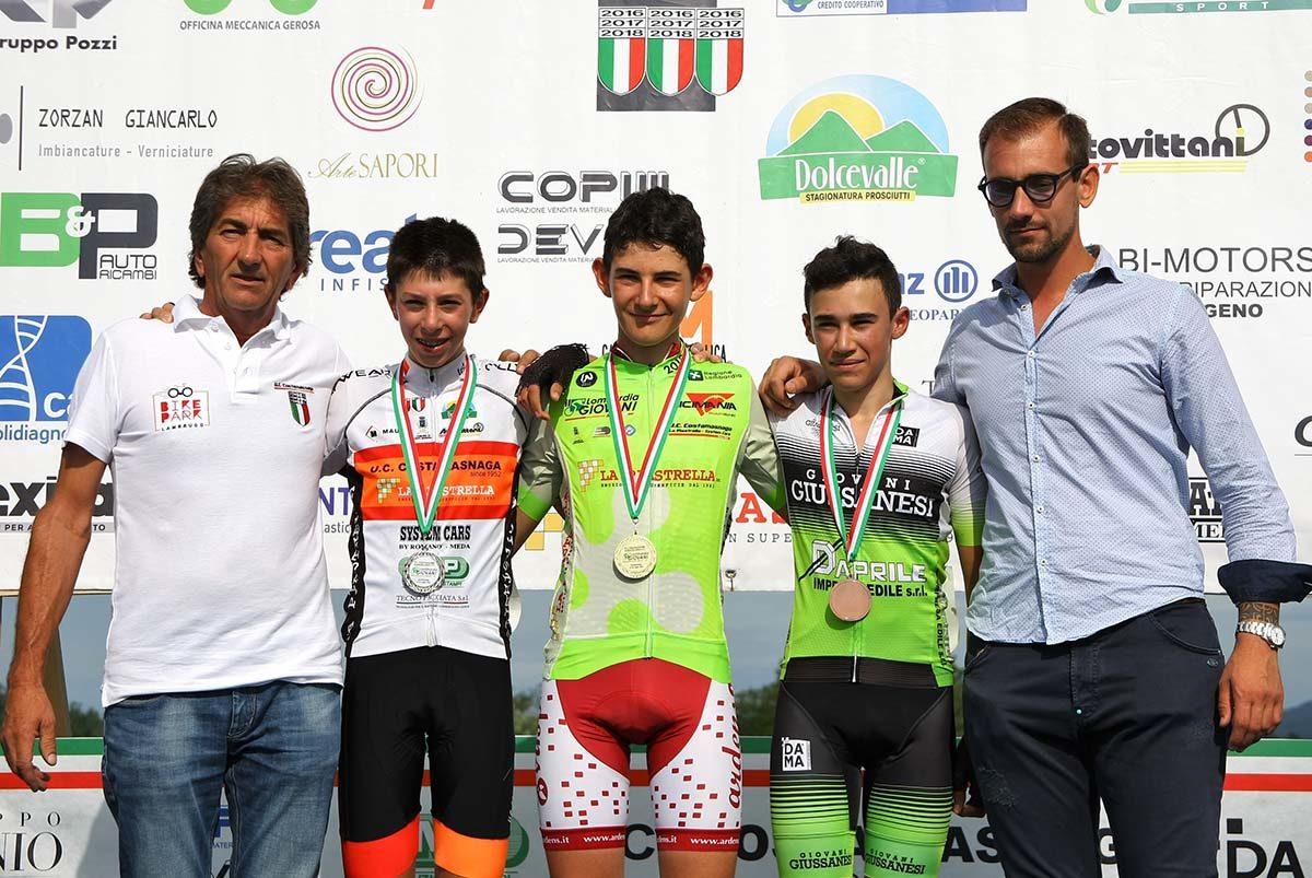 Il podio Esordienti di Il Lombardia Giovani 2019 (foto Berry)