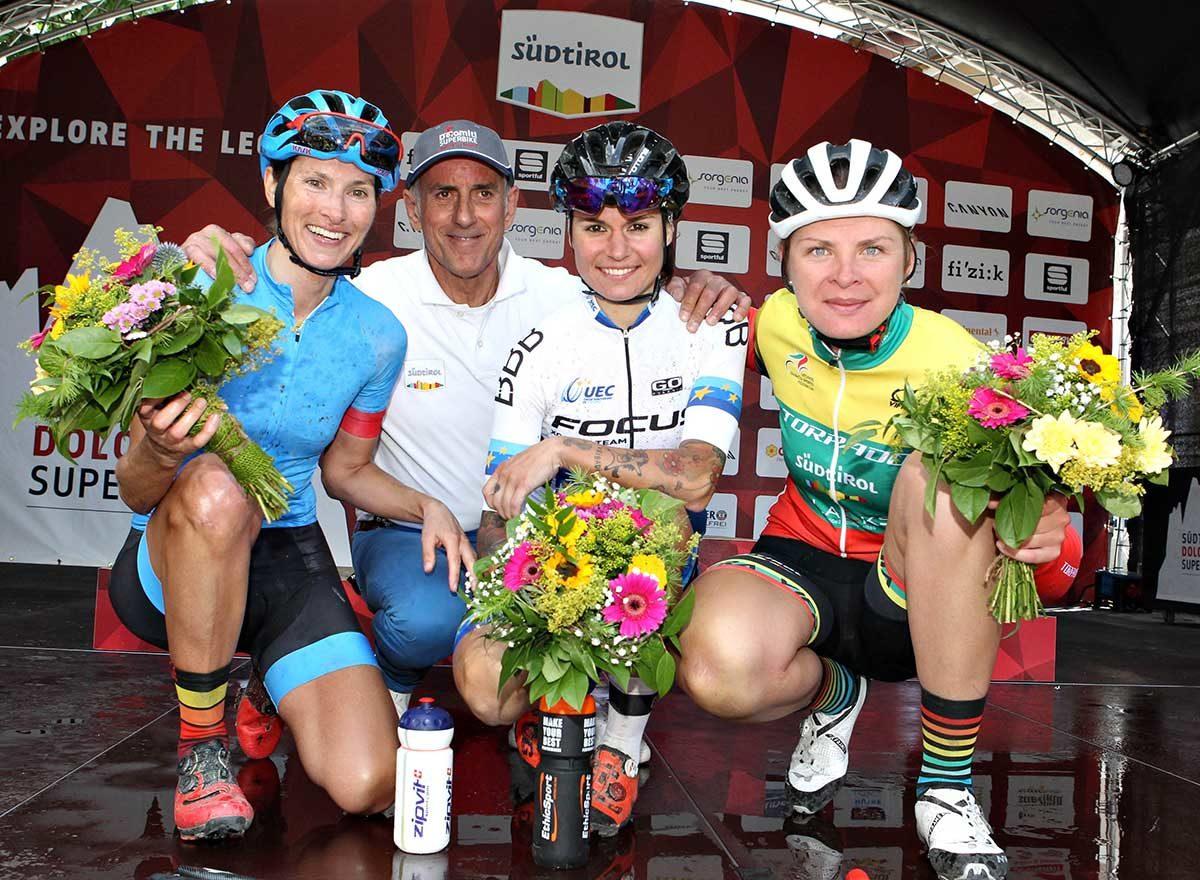 Il podio femminile della Dolomiti Superbike 2019