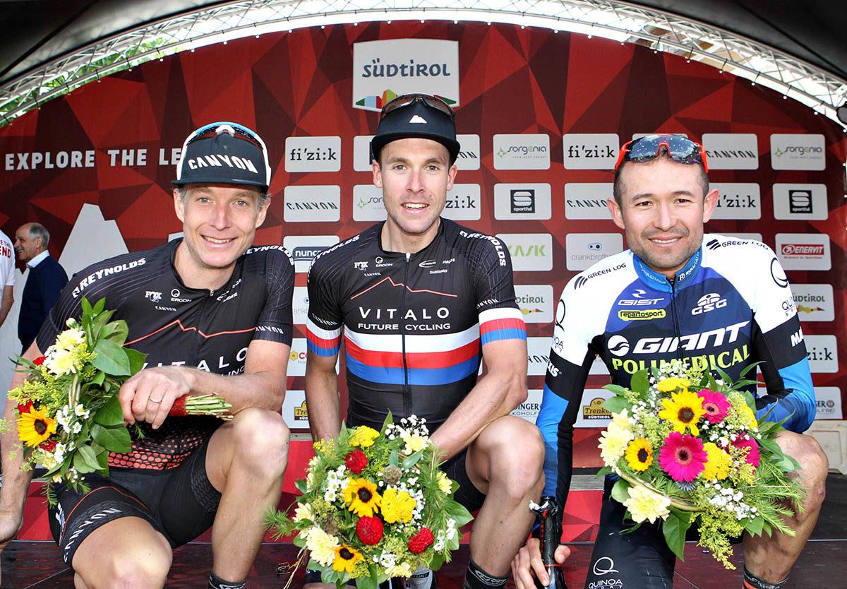 Il podio maschile della Dolomiti Superbike 2019