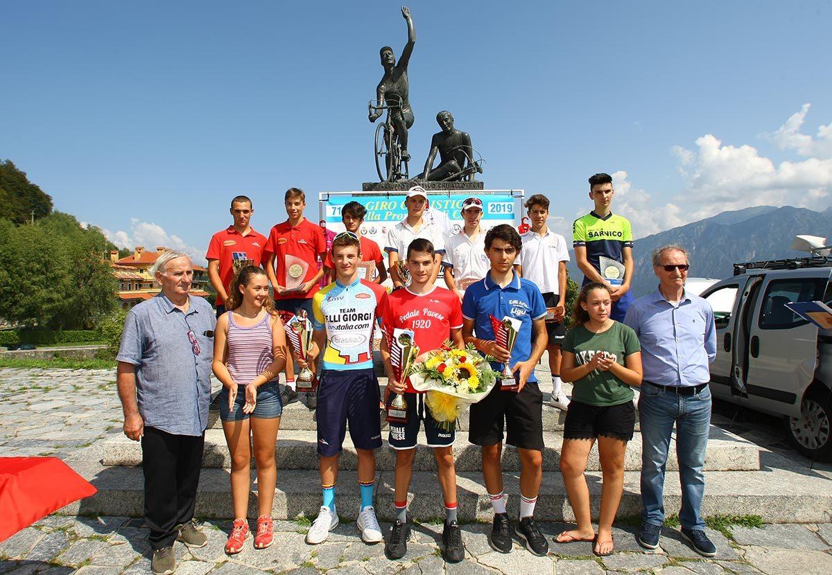 Le premiazioni dell'ultima prova del Giro della Provincia di Como 2019 (foto Berry)