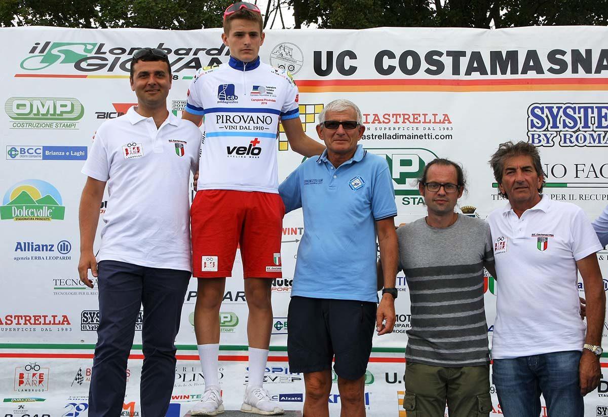 Lorenzo Pioselli campione provinciale Allievi di Lecco (foto Berry)