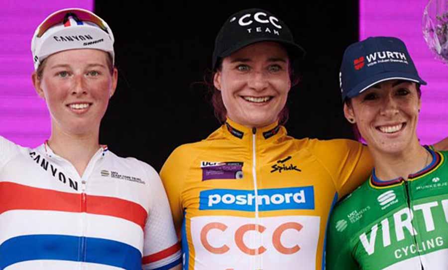 Il podio della seconda tappa del Ladies Tour of Norway