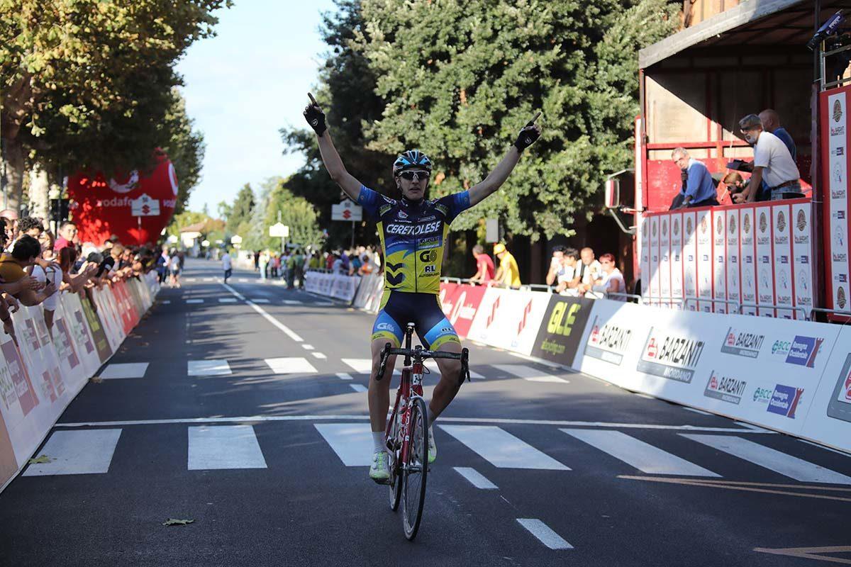AIessandro Messieri vince la Strade Bianche di Romagna Allievi 2019