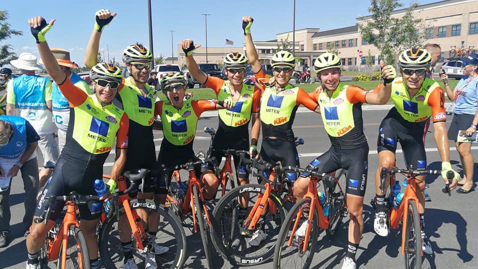 Festa della Neri Sottoli al Tour of Utah per la vittoria di Umberto Marengo