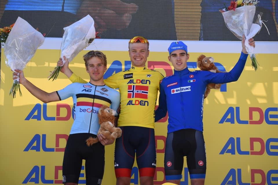 Il podio finale del Tour de l'Avenir 2019 (foto Tour de l'Avenir / Elisa Haumesser)
