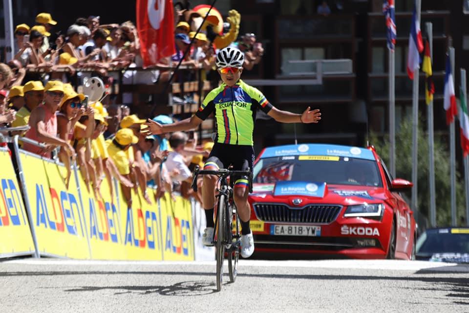 Jefferson Cepeda vince la decima tappa del Tour de l'Avenir 2019 (foto Tour de l'Avenir / Elisa Haumesser)