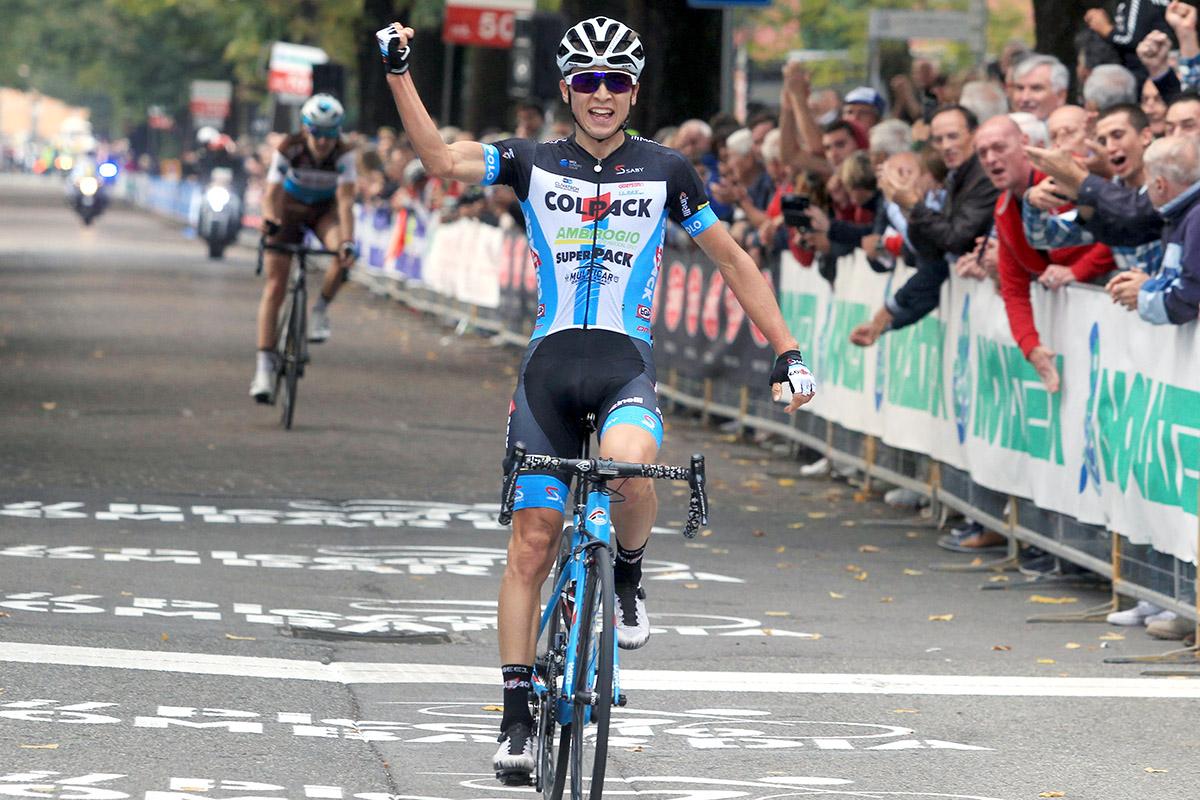 Andrea Bagioli vince il 91° Piccolo Giro di Lombardia (Foto Ghilardi)