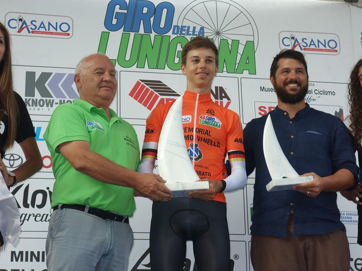 Marco Brenner protagonista nella seconda giornata del Giro della Lunigiana (foto Roberto Fruzzetti)