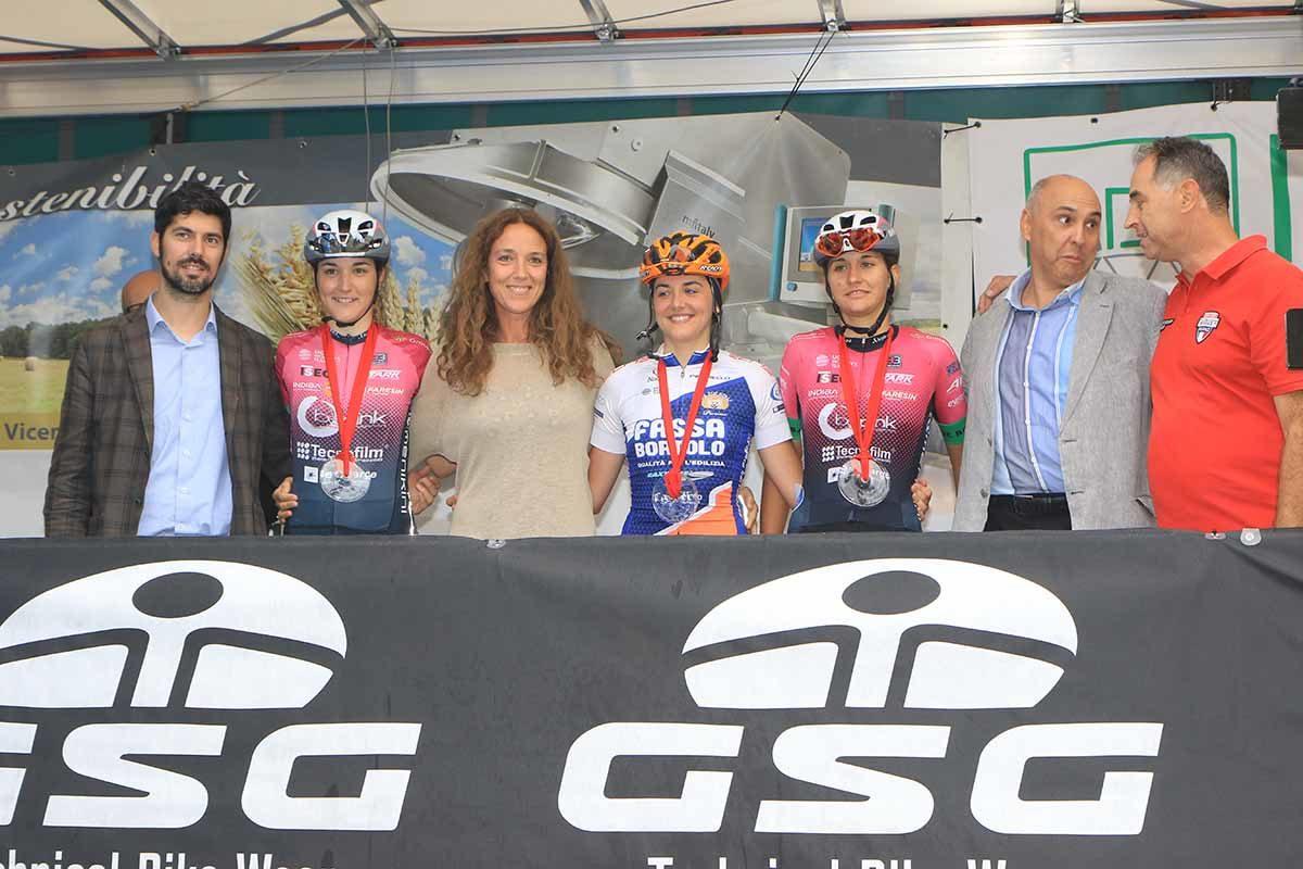 Il podio Donne Elite del Memorial Valeria Cappellotto 2019 (foto Fabiano Ghilardi)