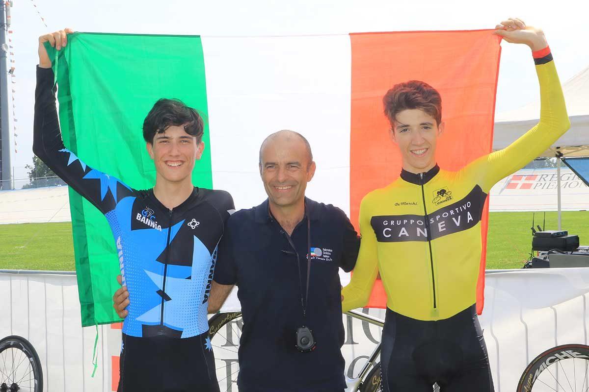 Doppietta friulana nel Campionato Italiano Inseguimento individuale Allievi (foto Fabiano Ghilardi)