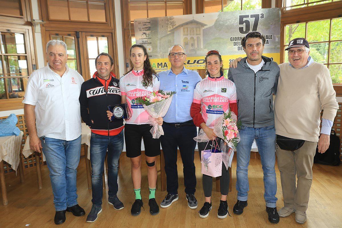 La premiazione delle leader della Challenge Rosa della Brianza (foto Fabiano Ghilardi)