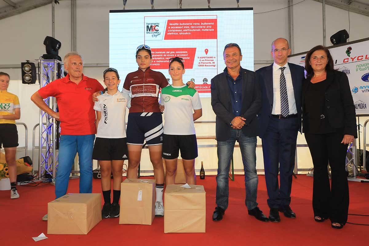 Il podio finale Donne Esordienti (foto Fabiano Ghilardi)