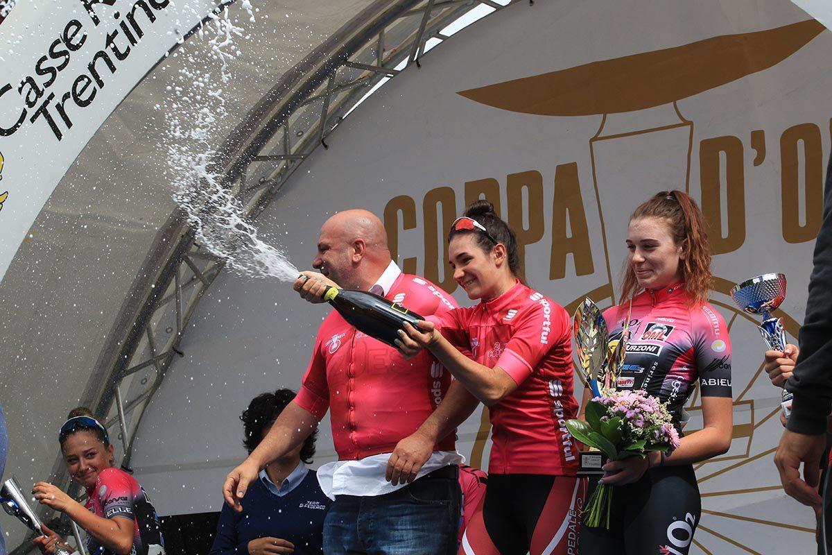 Francesca Barale festeggia la vittoria nella Coppa Rosa 2019 (foto Fabiano Ghilardi)