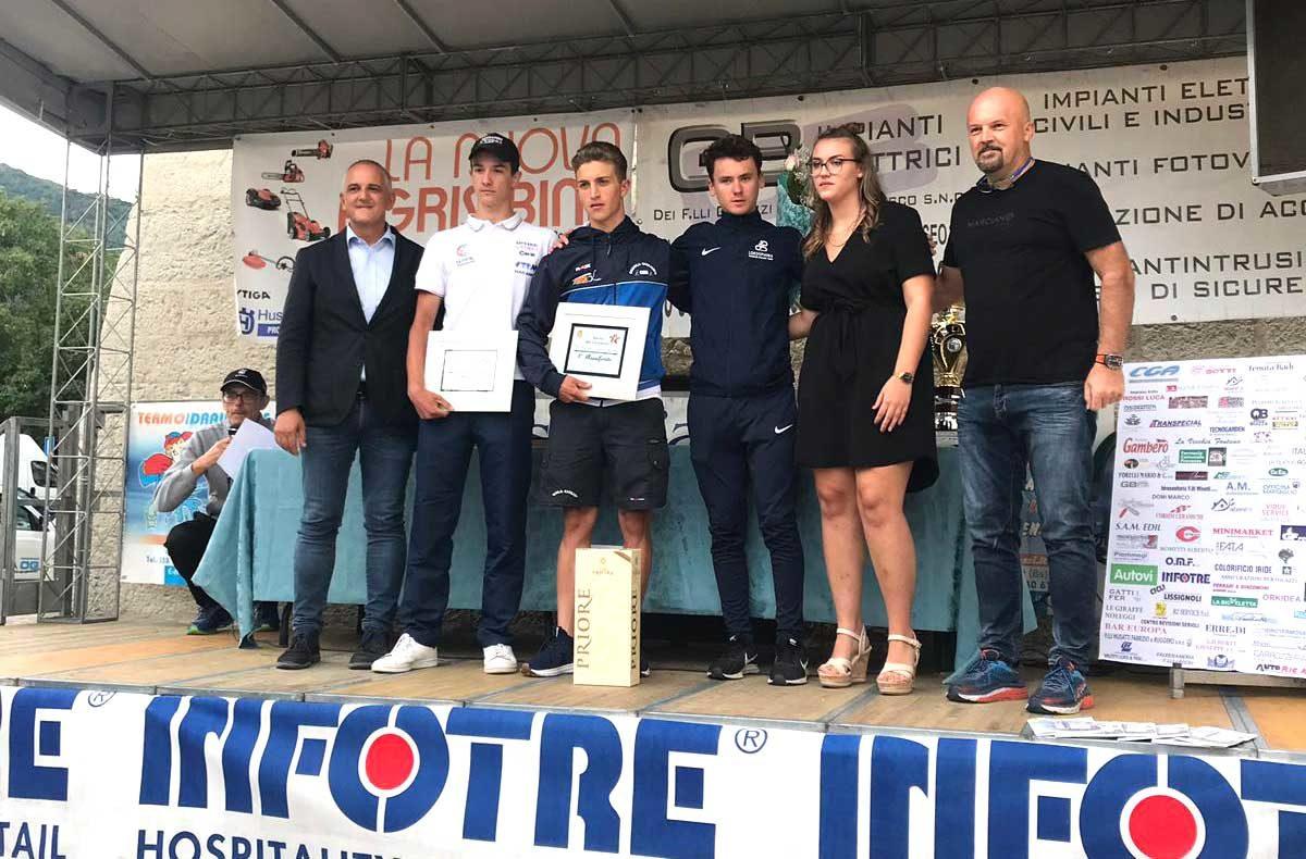 Il podio della gara Juniores di Provezze