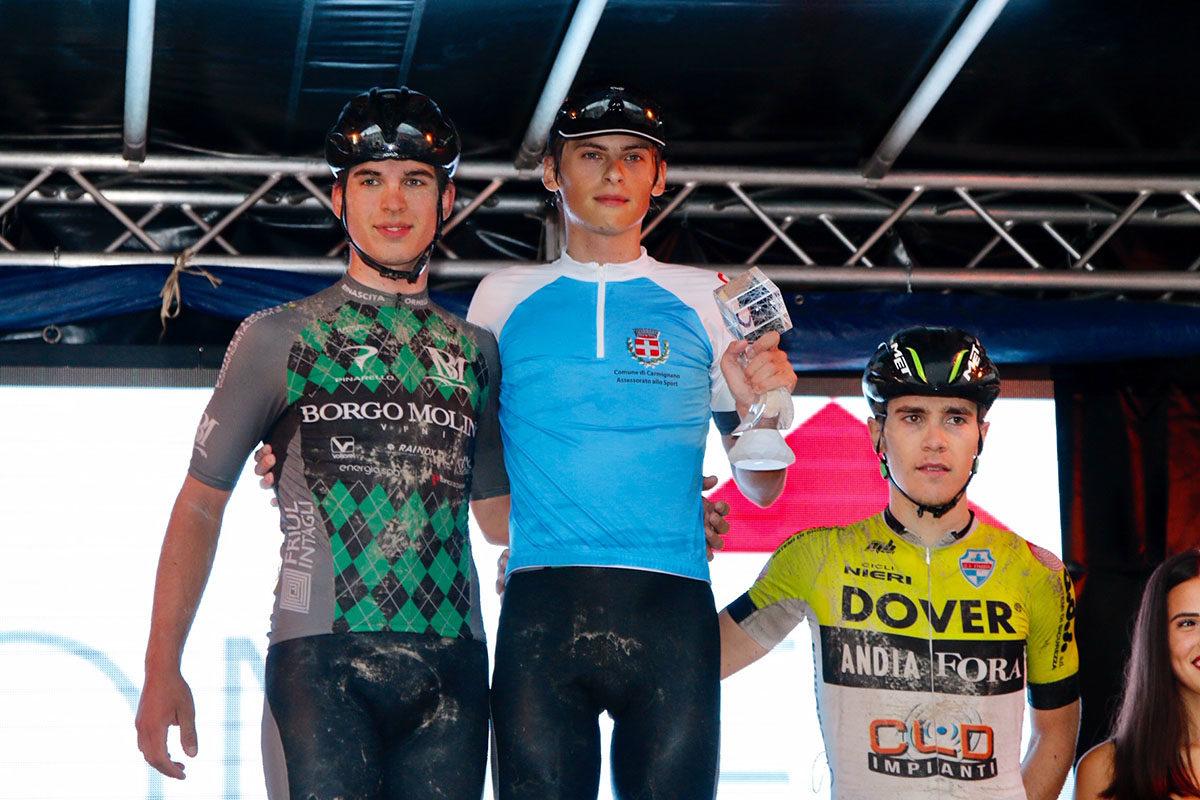 Il podio del Trofeo del Brenta 2019 (foto Photobicicailotto)