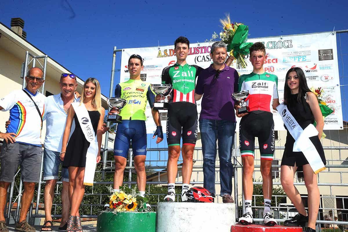 Il podio del Gp La Serra 2019