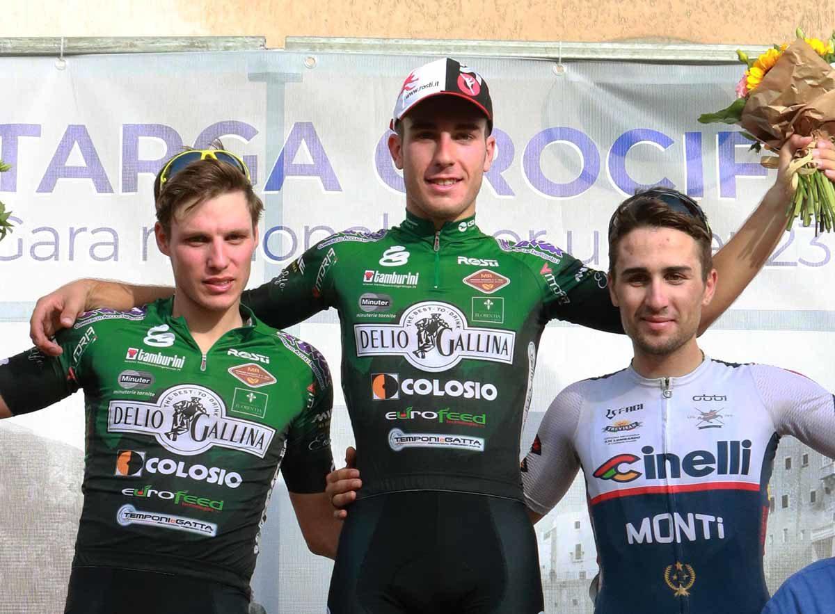 Il podio della Targa Crocifisso 2019