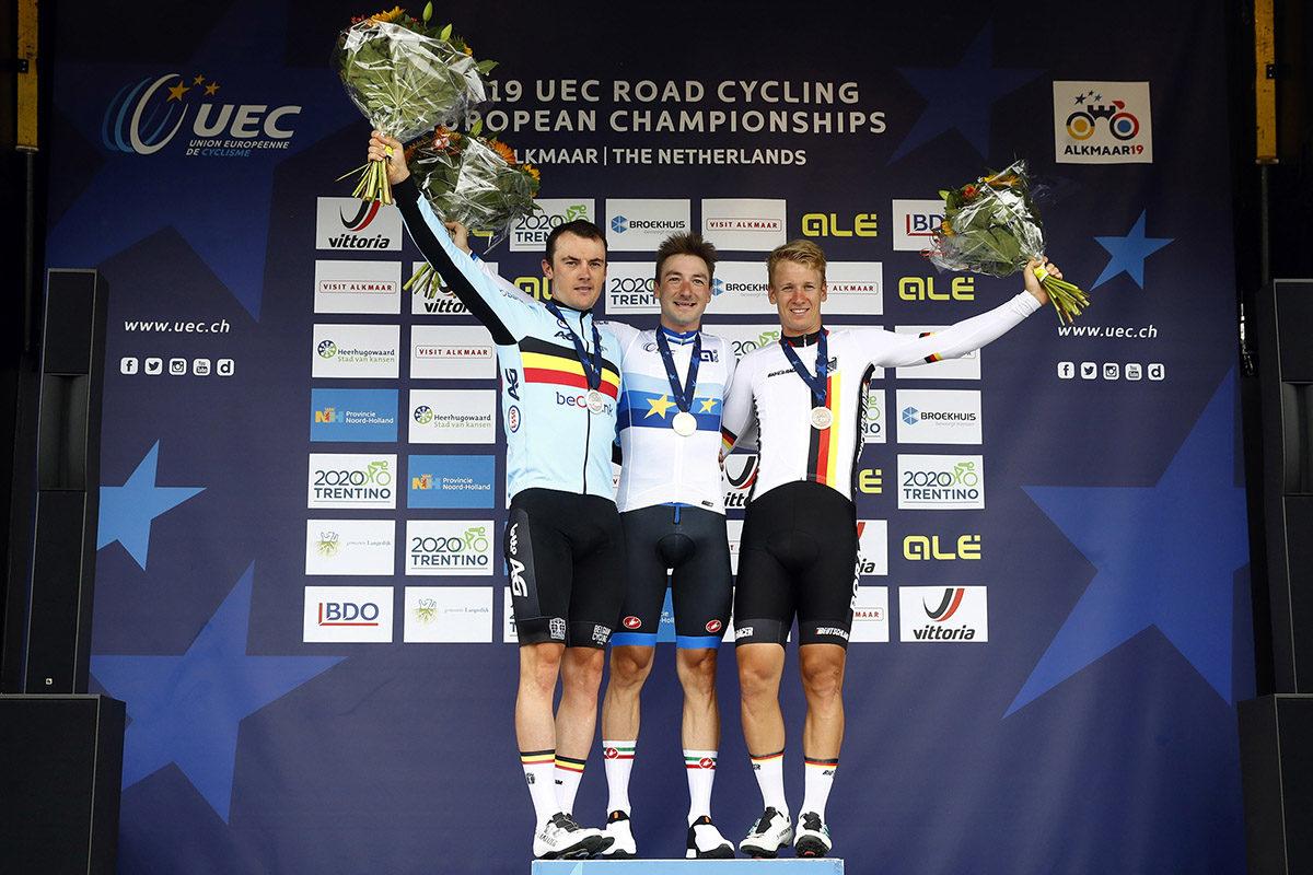 Il podio del Campionato Europeo 2019 (foto BettiniPhoto)