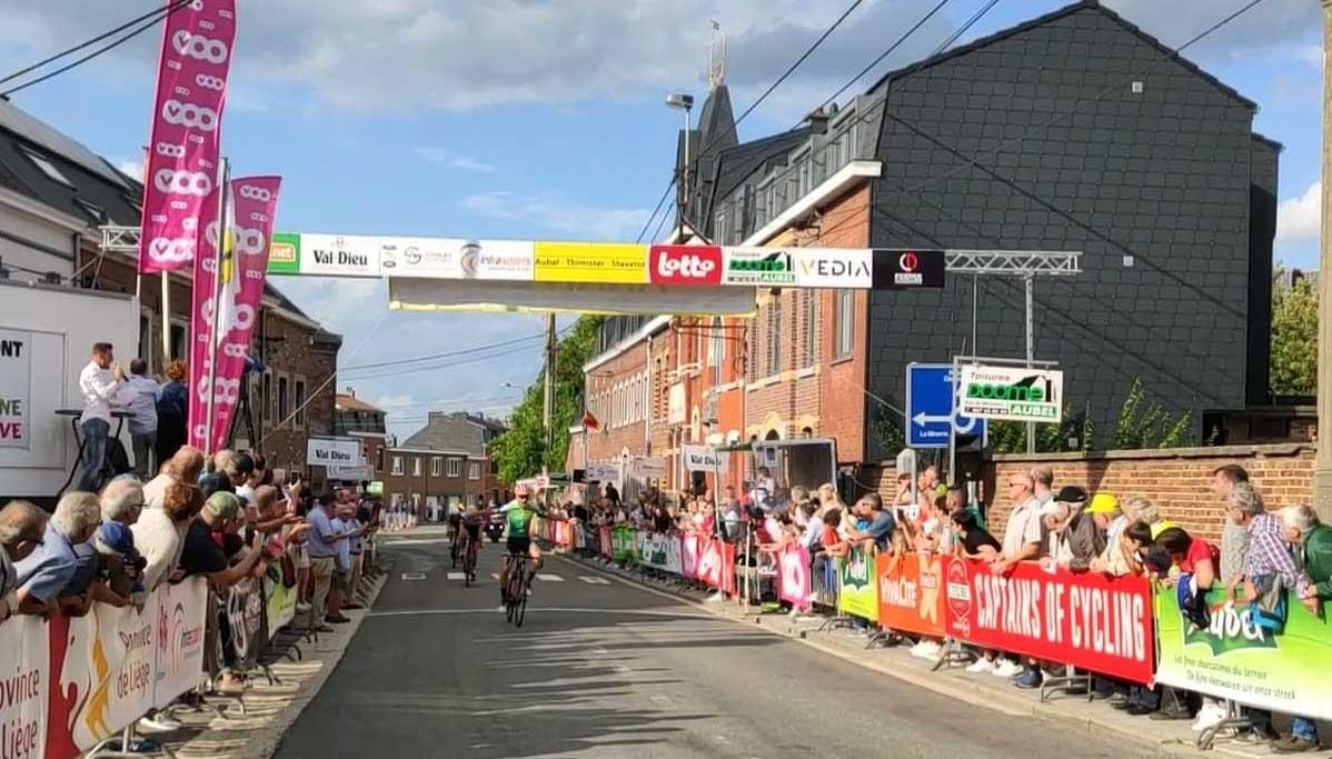 Alessandro Baroni vince la seconda semitappa della seconda tappa dell'Aubel - Thimister - Stavelot