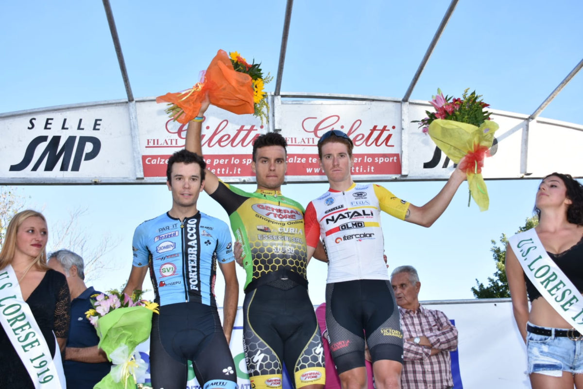Il podio della Coppa Loro Ciufenna 2019 (foto Scanferla)