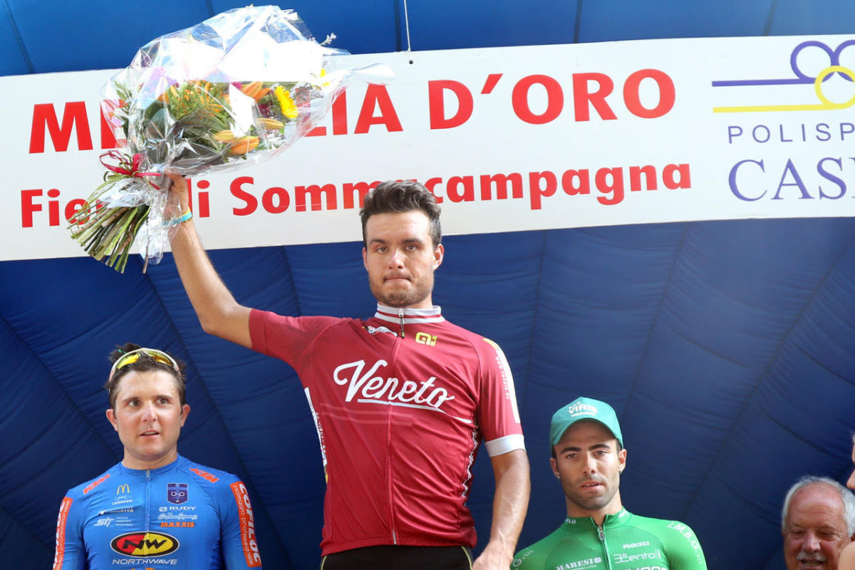 Francesco Di Felice vince a Sommacampagna ed è campione veneto Under 23 (foto Scanferla)