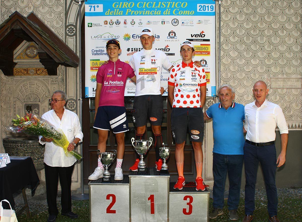 Le maglie del Giro della Provincia di Como dopo la prova di Sondrio (foto Berry)