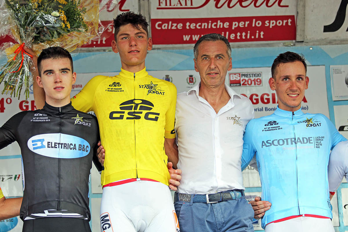 Il podio del Gp Sportivi di Poggiana (foto Scanferla)