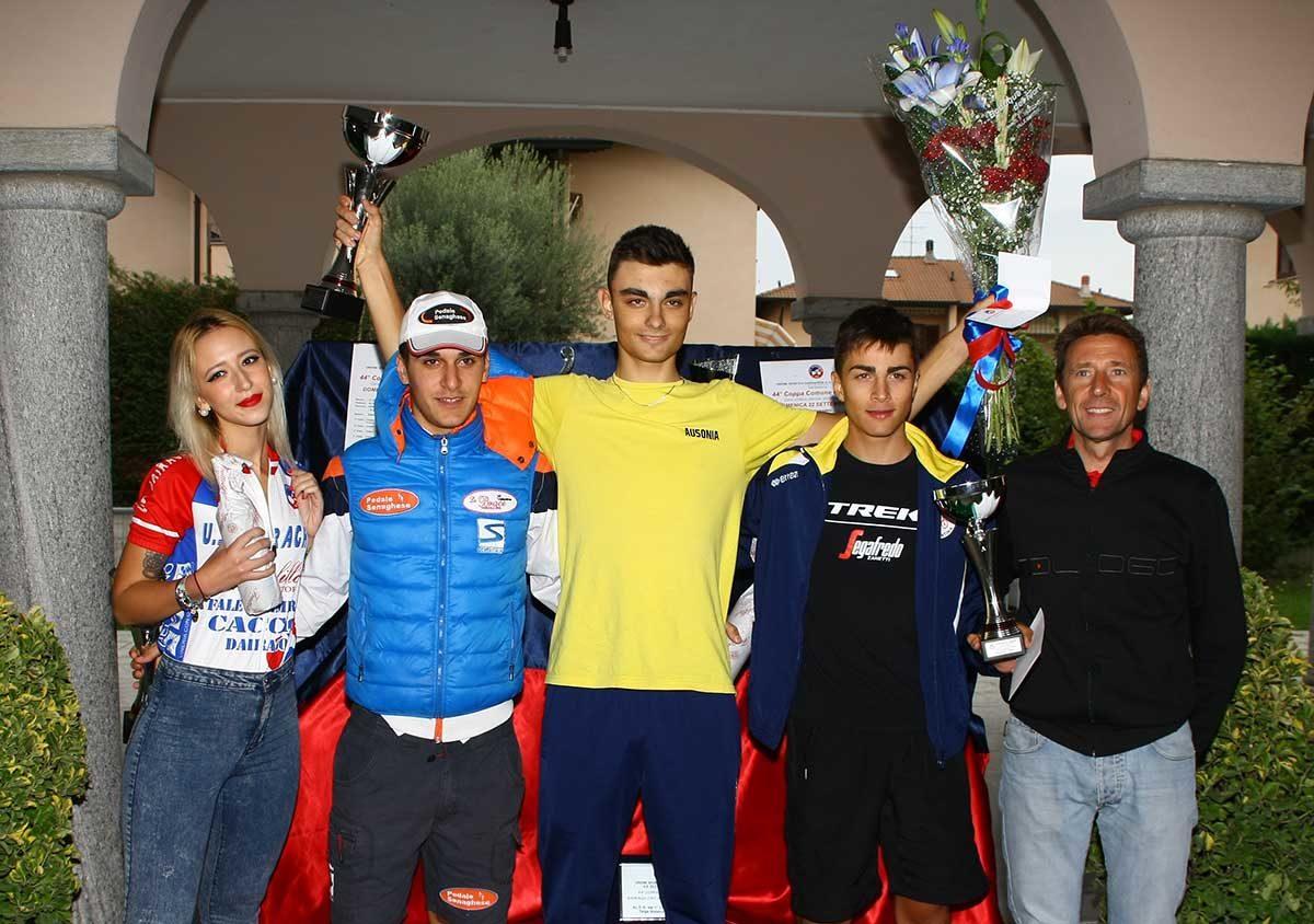 Il podio della Coppa Comune di Dairago 2019 (foto Berry)