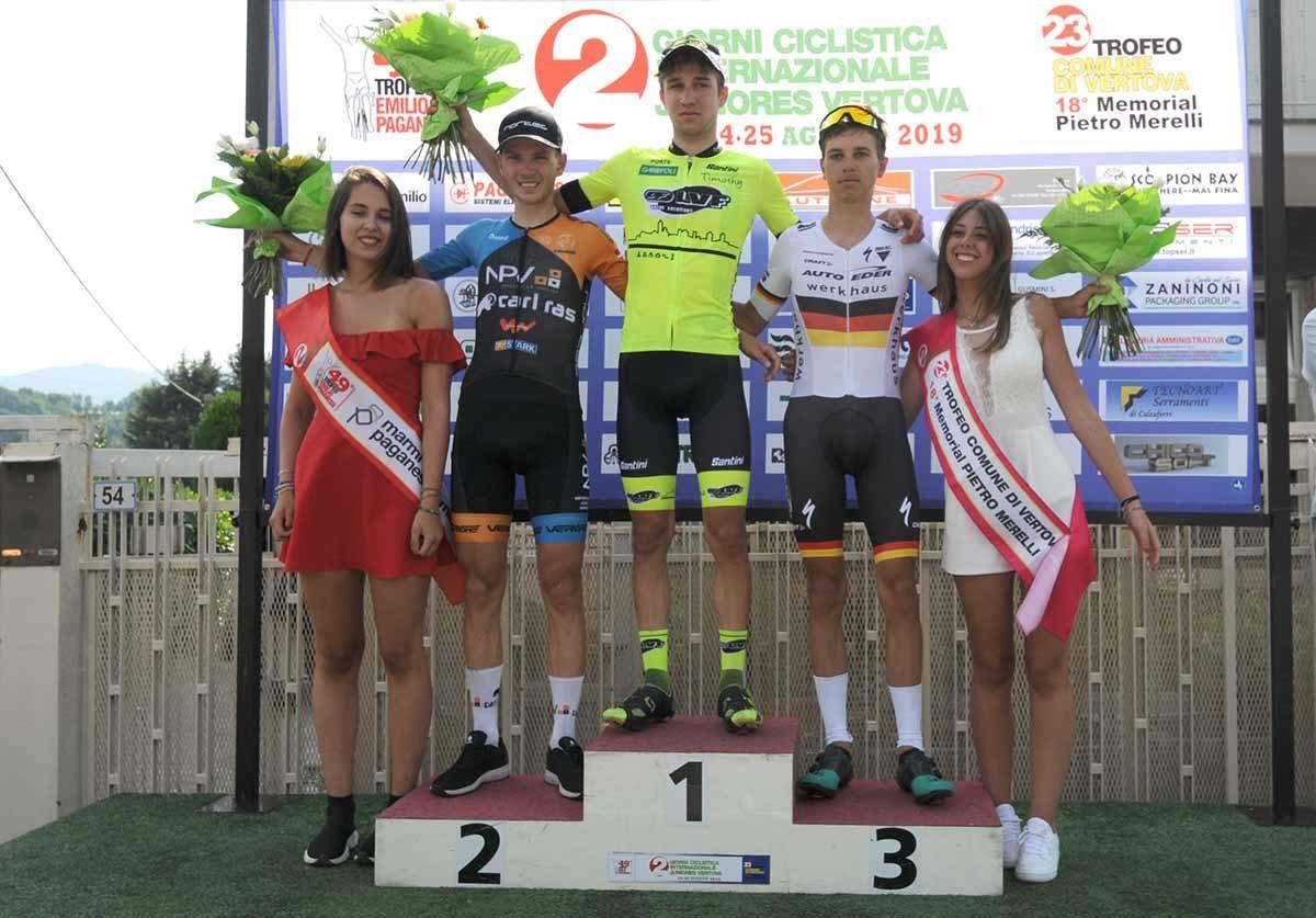 Il podio del 49° Trofeo Emilio Paganessi