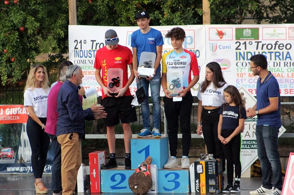 Il podio di Rignano sull'Arno