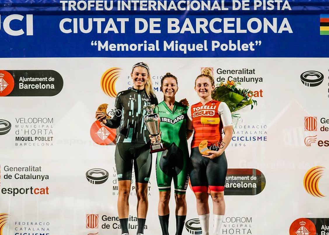 Podio Omnium femminile di Barcellona