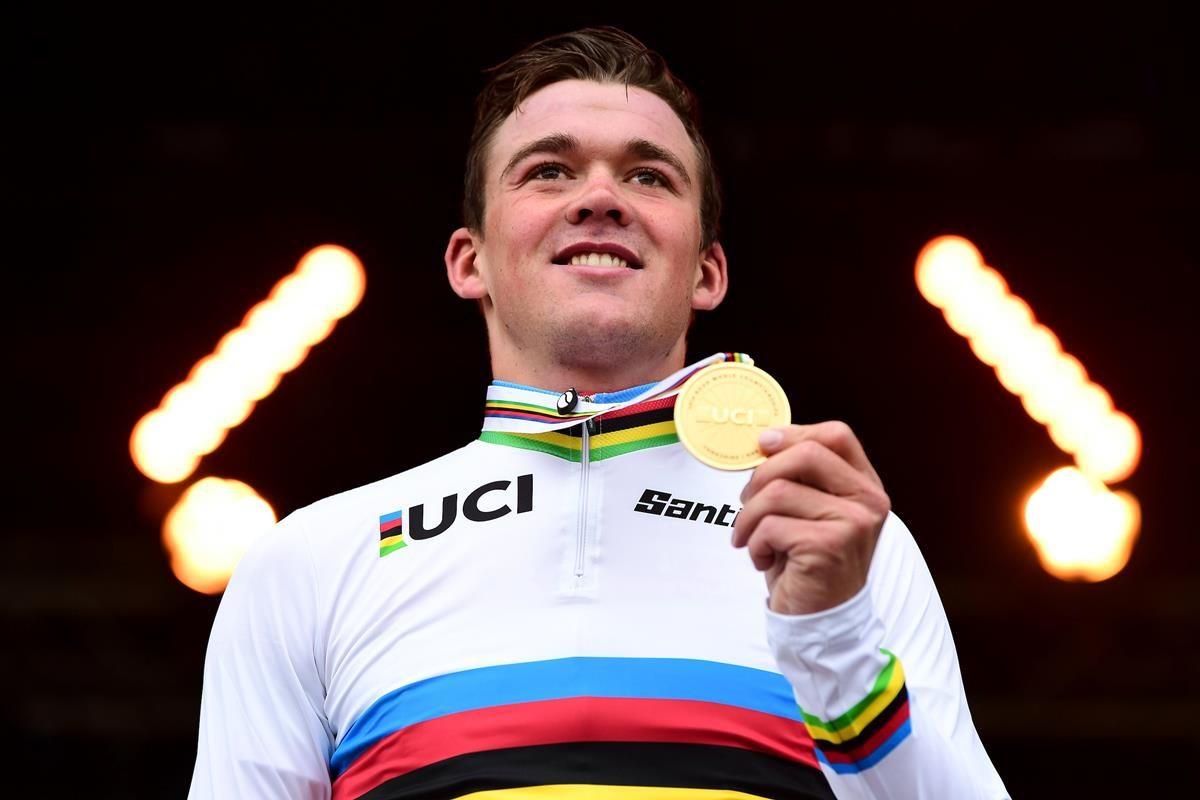 Mads Pedersen campione del mondo 2019 (foto SWpix)