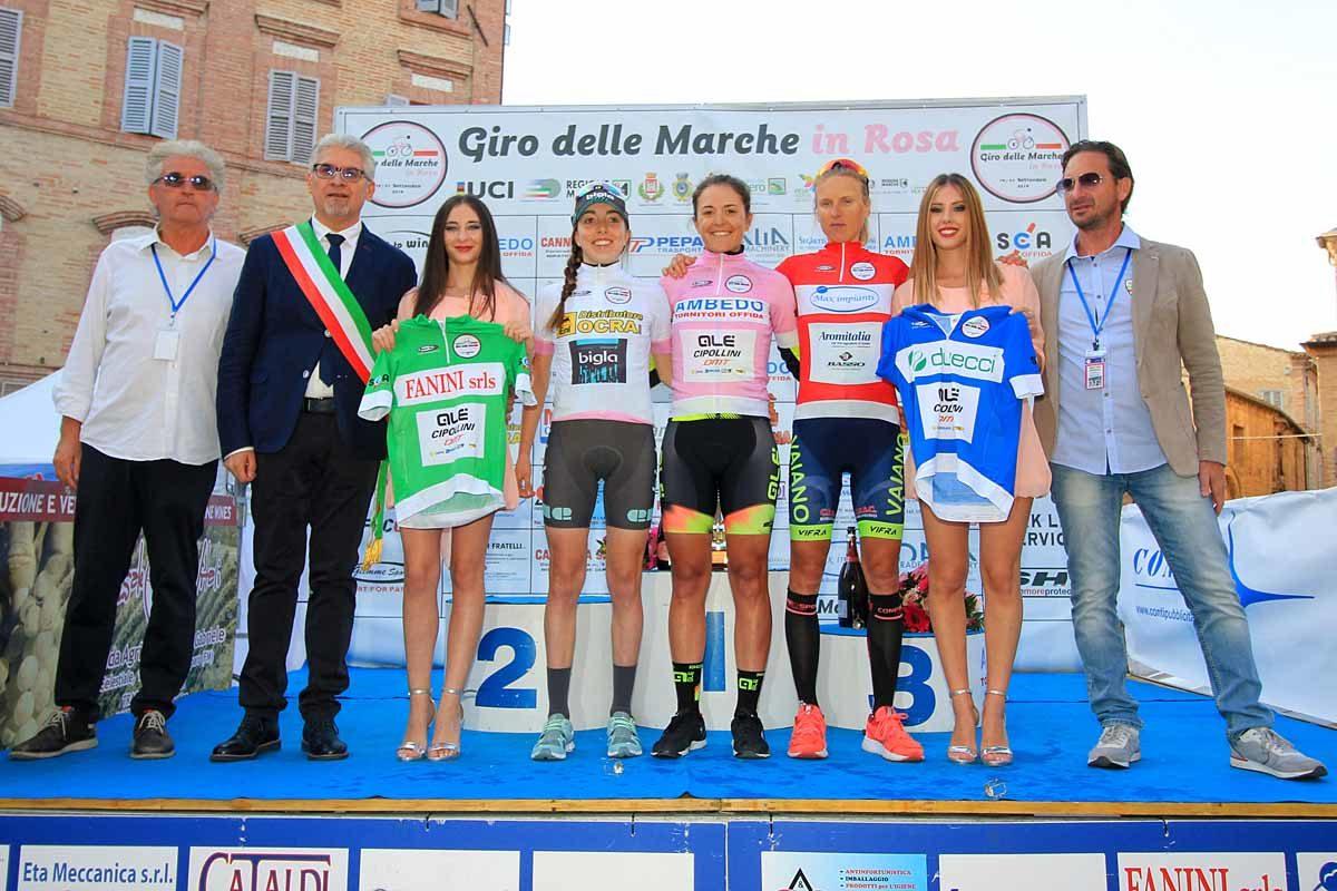 Tutte le maglie del Giro delle Marche in Rosa 2019 (foto F. Ossola)