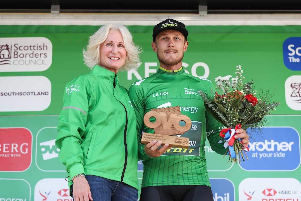 Matteo Trentin leader dell'OVO Energy Tour of Britain (foto SWpix)