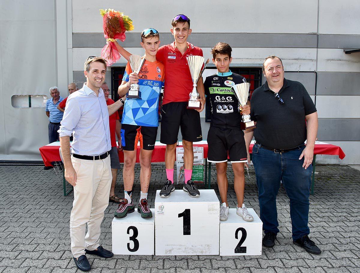 Il podio Esordienti 2° anno di Carugate (foto Berry)