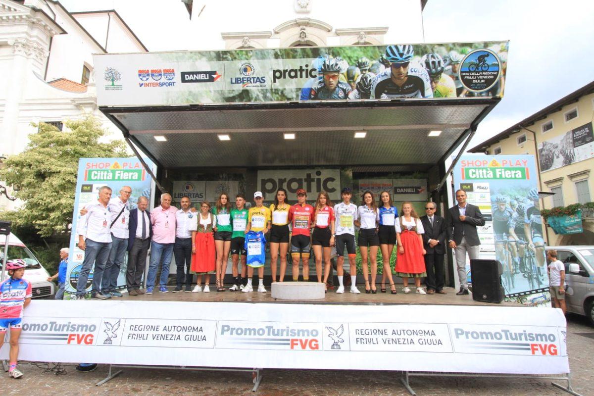 Tutte le maglie del 55° Giro della Regione Friuli Venezia Giulia (foto Bolgan)