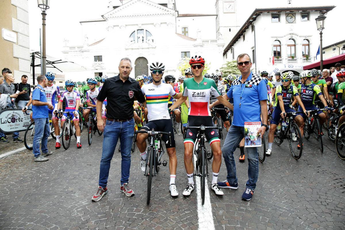 Il campione del mondo Samuele Battistella e il campione italiano Marco Frigo a San Daniele del Friuli (foto Scanferla)