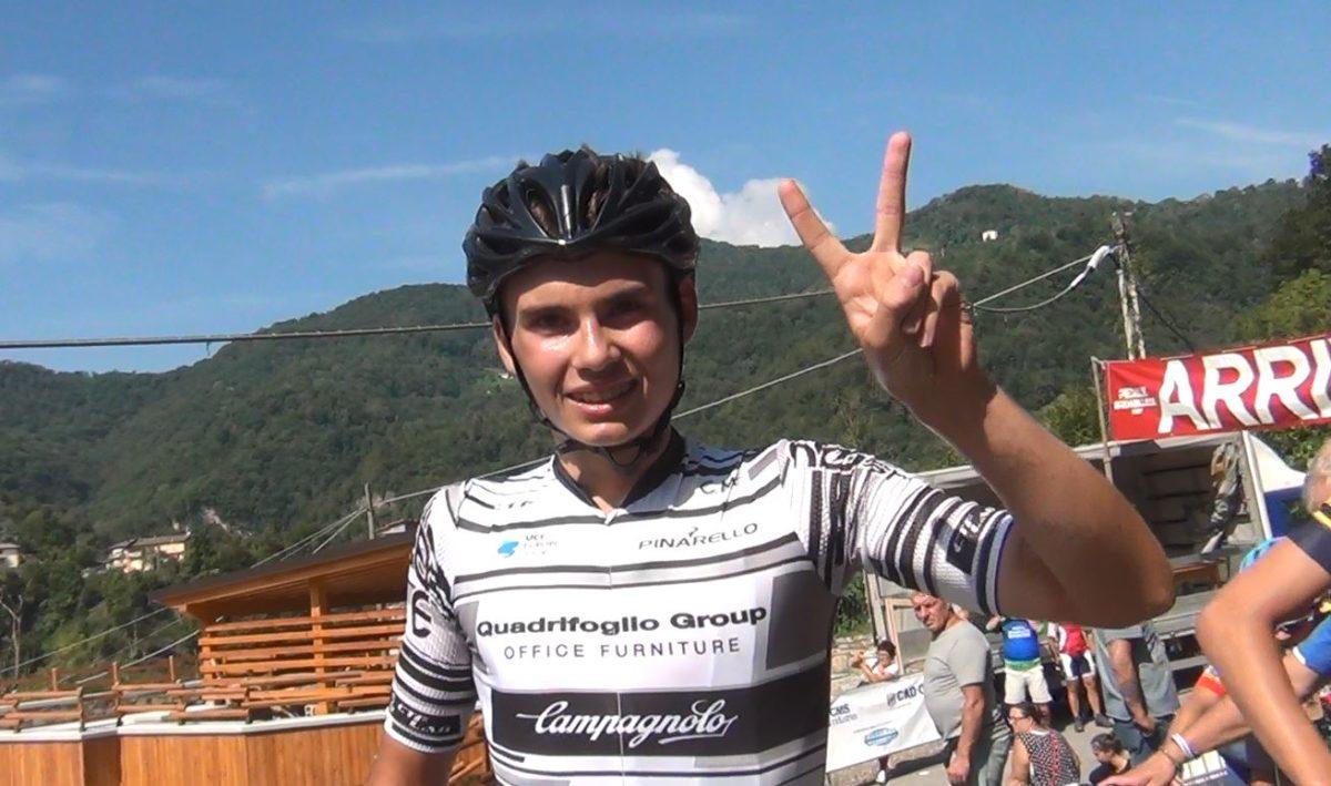 Gabriel Musizza festeggia la seconda vittoria della stagione