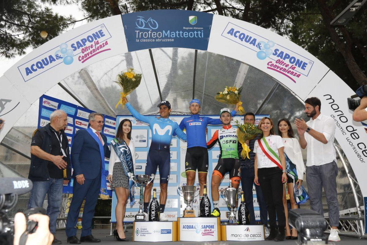 Il podio del Trofeo Matteotti 2019