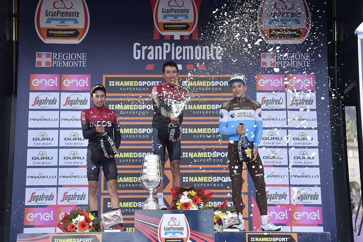Il podio di GranPiemonte 2019 (foto LaPresse)