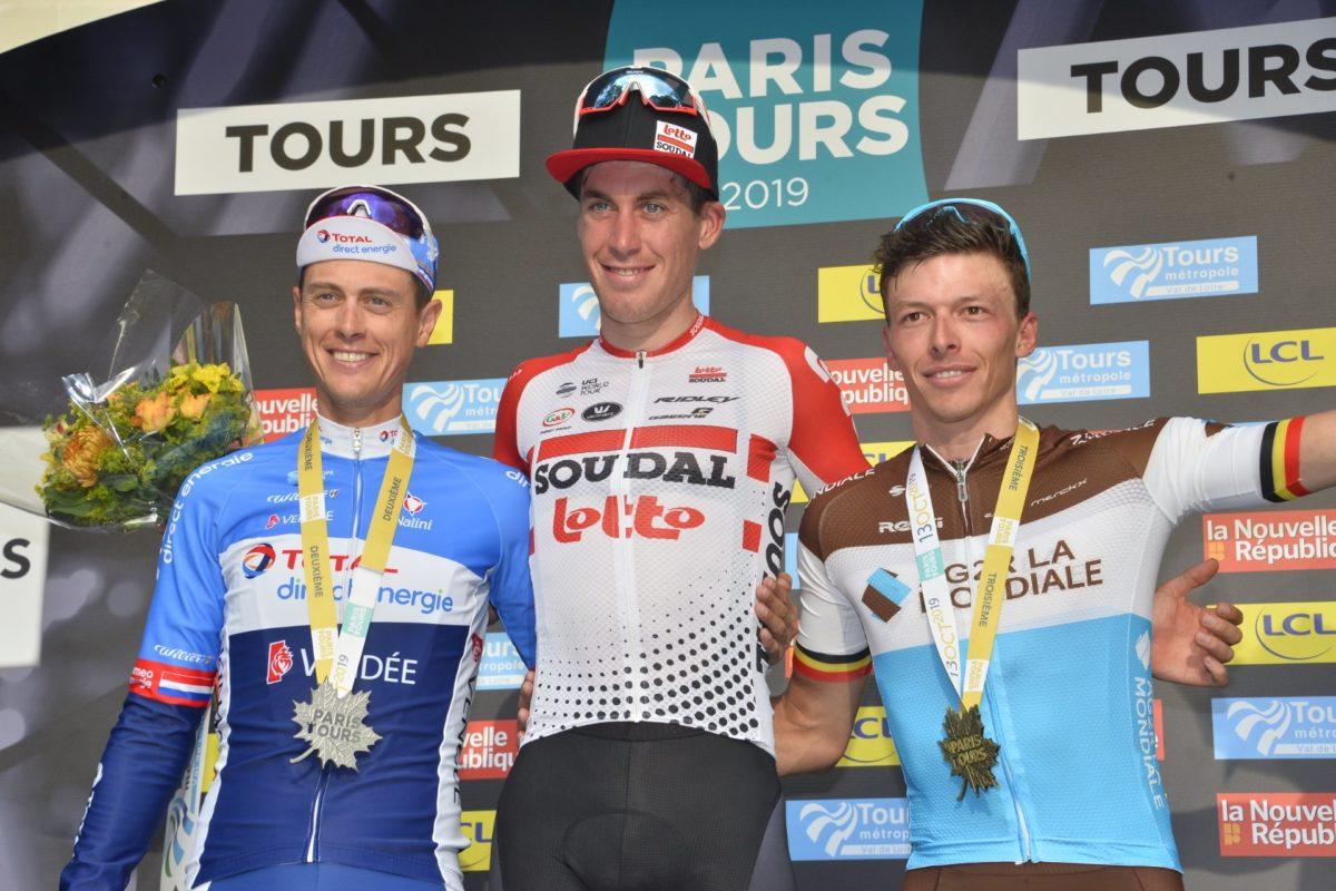 Il podio della Parigi-Tours 2019