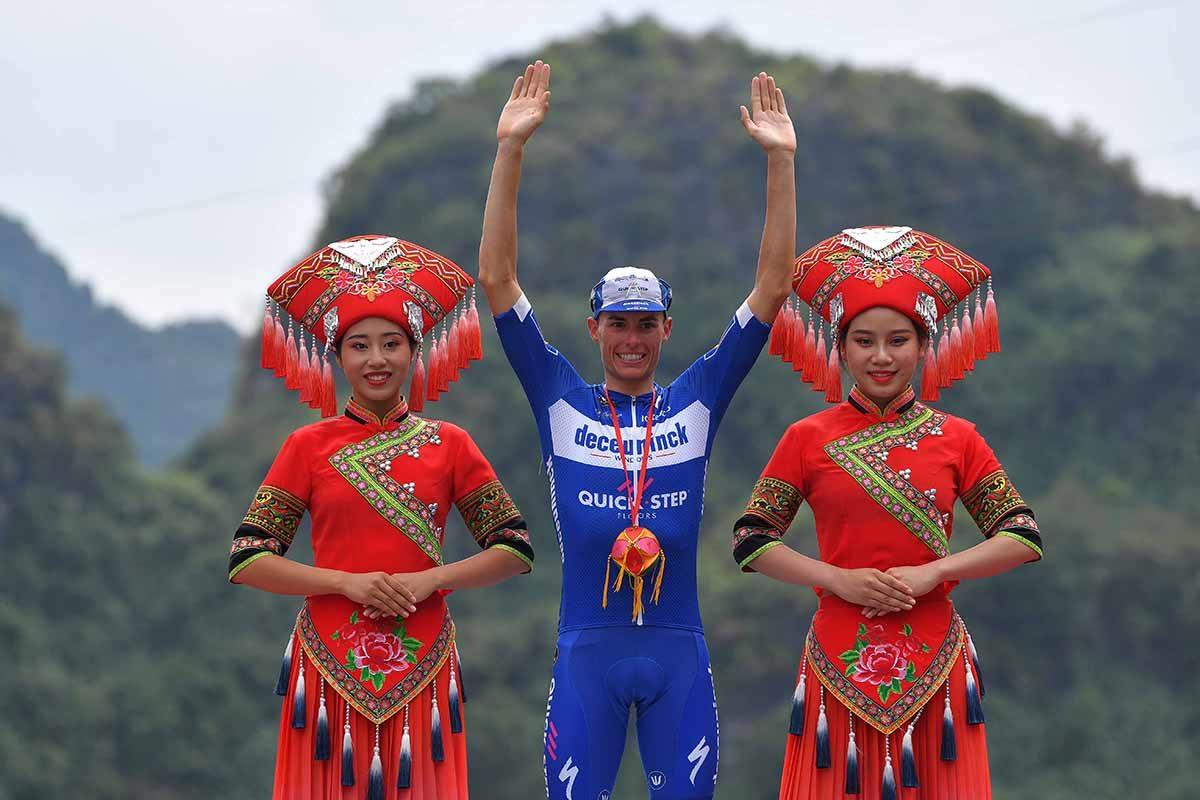 Enric Mas vincitore della quarta tappa del Tour of Guangxi 2019 (foto Tim de Waele/Getty Images)