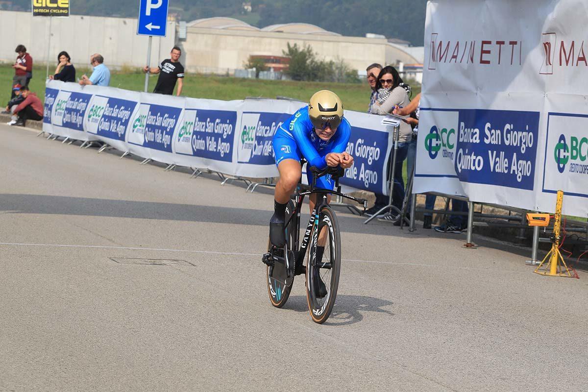 Elena Cecchini in azione al Campionato Italiano cronometro Donne Elite (foto Fabiano Ghilardi)