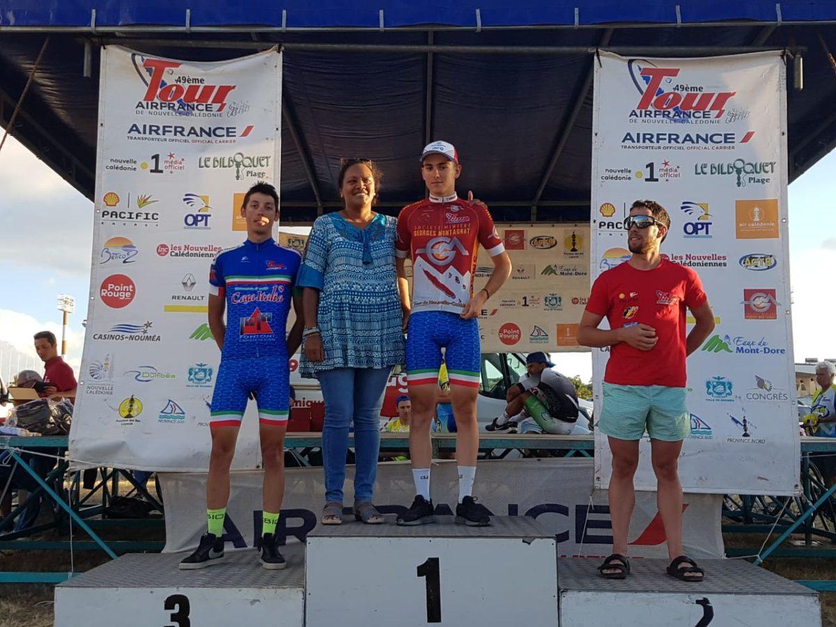Christian Scaroni leader degli scalatori al Giro della Nuova Caledonia 2019