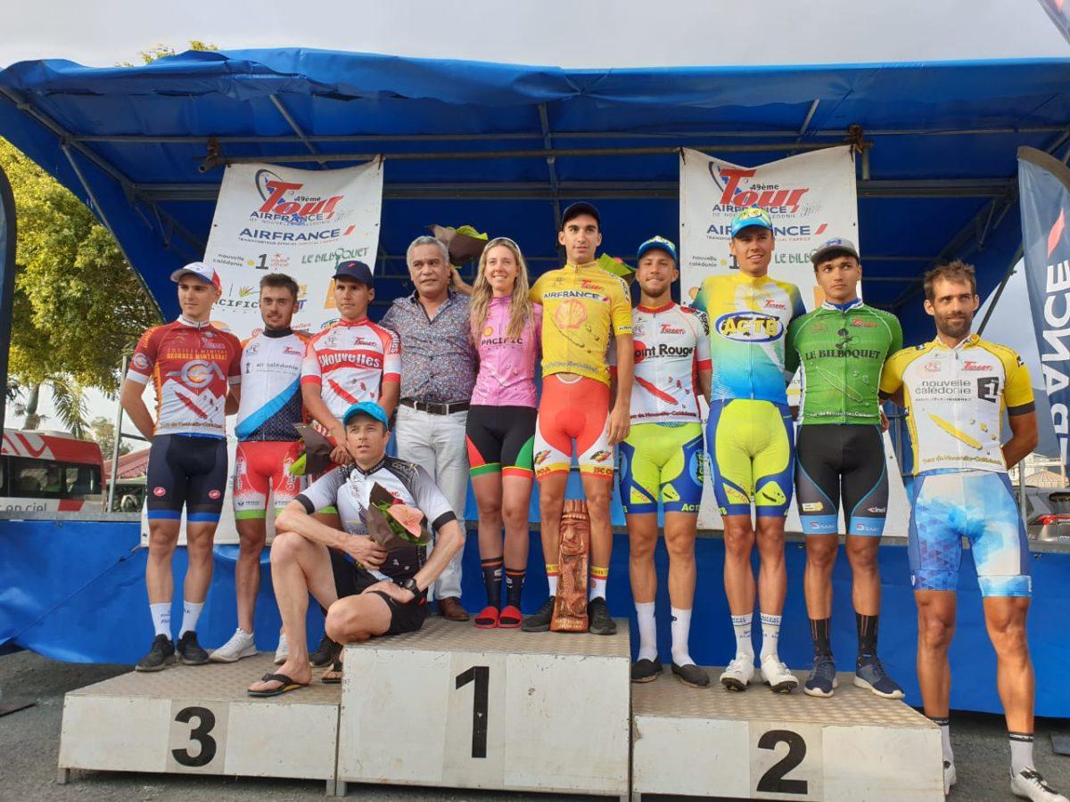 Tutte le maglie dopo la sesta tappa B del Giro della Nuova Caledonia