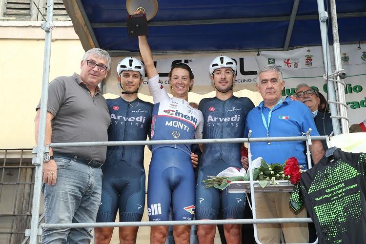 Il podio del Trofeo Comune di Marcaria (foto Soncini)