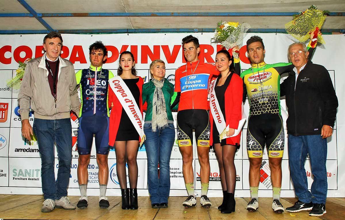 Il podio della Coppa d'Inverno a Biassono (foto Berry)