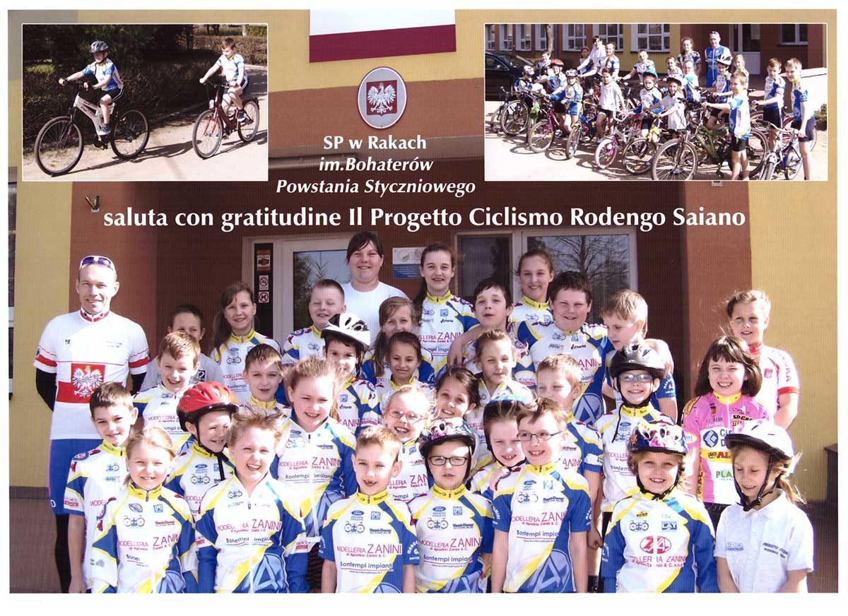 I ragazzi della Polonia ringraziano la Progetto Ciclismo Rodengo Saiano