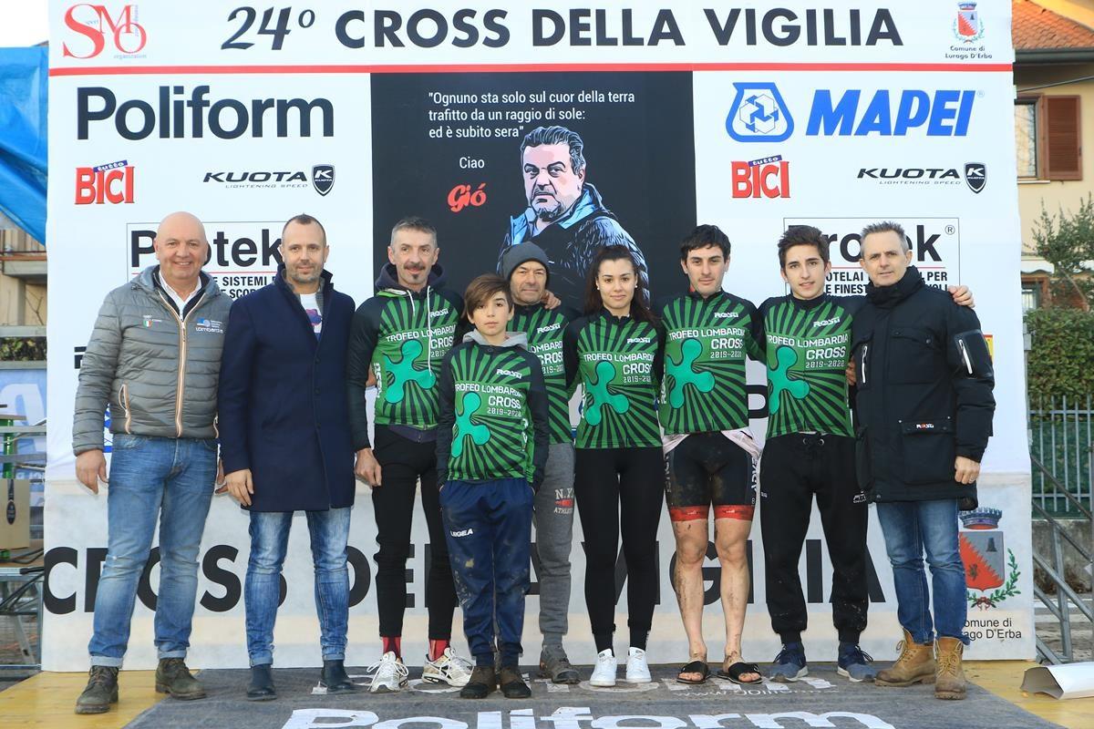 Alcuni leader del Trofeo Lombardia Ciclocross a Lurago d'Erba (foto Fabiano Ghilardi)